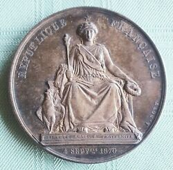 France-1870/76- Seated Republic - Superb Silver Medal By Bovy