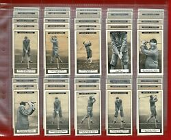 How To Play Golf - Imperial Tobacco Canada - 1925 Cigarette Card Set Vgc Sk18