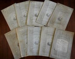 Medical And Surgical Reporter 1864 Lot X 9 American Civil War Magazine Period Ads