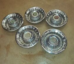 Cadillac Deep Dish Used 1950and039s Hubcaps 16 Set Of 5
