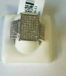 Round Diamond 1.00ctw Rhodium Over Sterling Silver Made From India Woman Ring