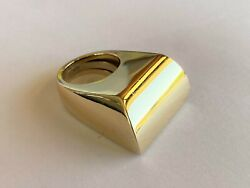 Modernistic Design Rare Custom Modified 18k Yellow Gold Ring Size 7