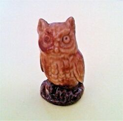 Red Rose Wade Whimsies Owl Figurine 1971-1984 Collectible Decorative Brands