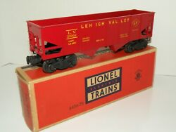 Lionel Pw Rare 6456 Lv Lehigh Valley Red Hopper Car Yellow Lettering And Box