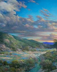 Larry Dyke Sunset Bend Giclee On Canvas Grande Edition
