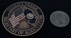 Rare Secag Secretary Of Agriculture Thomas Vilsack Department Of Challenge Coin
