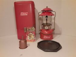 Coleman 200a Single 1967 Mantel Lantern - Red With Guillotine Metal Case 7 67