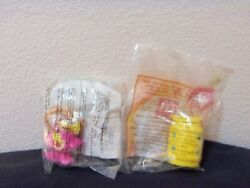 2 Mcdonalds Fast Food Toys From Rodeo Set- One Foreign, One Usa Regional- Mip