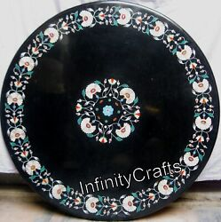 48 Inches Marble Dining Table Top Marquetry Art Hallway Table For Home Furniture
