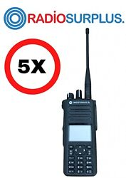 5x Motorola Xpr7580 800mhz Radios With Pmnn4409 Battery Aah56ucn9kb1an