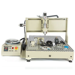 Usb Cnc6090t Router Engraver 4 Axis 2.2kw Spindle Engraving Machine + Controller