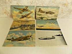 Lot Of 6 World War 2 Post Cards New Unused W R. Thompson And Co And Tichnor Bros