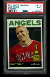 2013 Topps Heritage Mike Trout Chrome 2012 All Star Rookie Psa 9 415/999 Pop 30