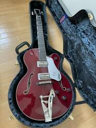Excellent Gretsch G6119 Tennessee Rose Guitar Bigsby F-hall Made In Japan W/hc