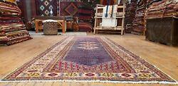 Vintage 1980-1990s Wool Pile Natural Color Legendary Hereke Runner Rug 3and0397andtimes9and03911