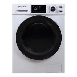 Magic Chef 2.7 Cu Ft Front Load Washer And Dryer Combination, White Used