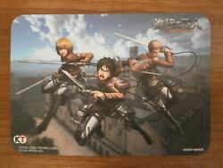 Mouse Pad Promo - Attack On Titan - Kt Playstation - Not For Sale