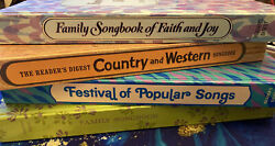 Lot Of 4 Readers Digest Songbooks Faith, Family, Popular, And Country Spiral Bind