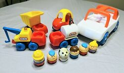 Vintage Little Tikes Toddle Tot Mixed Lot Of 6 Chunky Toys And 5 Cars And Trucks