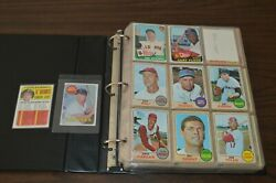 Nice 1960and039s-1970and039s Vintage Baseball Card Collection In Binder Must See