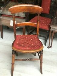 Antique Beech Bar Back Chair Early 20th Century [7199]