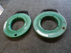 Lot Of 2 Used Greenlee Fts438-240 Magnumpro Steel Fish Tape 1/8 X 240'