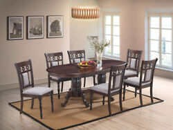 Cosmos Furniture Lakewood Contemporary Dining Room Set Total Of 7 Pieces