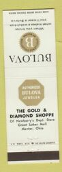 Matchbook Cover - Bulova Watches Gold And Diamond Shoppe Mentor Oh