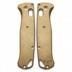 Flytanium Brass Scales For Benchmade Bugout Fly546 Antique Stonewash Finish