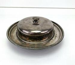 Vintage Wilcox Silver Plate Co Plated Butter Dish With Lid Made In America Us