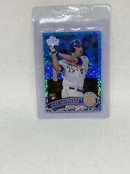 2011 Mike Moustakas Topps Update Blue Reds Royals Hope Diamond Refractor Rc /60