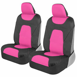Waterproof Car Seat Covers Protectors Polyester Neoprene Front 2 Pack Pink
