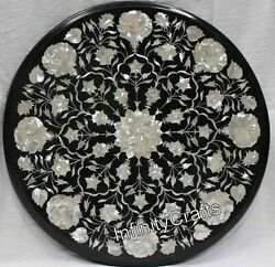 21 Inches Marble Coffee Table Top Inlay Mop Royal Look Sofa Table For Home Decor