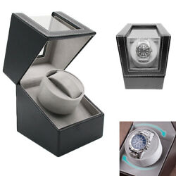 1pc Automatic Rotation Leather Watch Winder Storage Display Case Box For Gift
