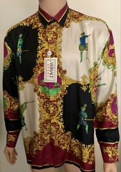 Gianni Versace Sport Silk Shirt Rare Colour Swordsman Fencing New With Tags 52