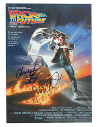 A3 Back To The Future Poster Signed By Lloyd And Fox Black And Blue Pen 100 + Coa