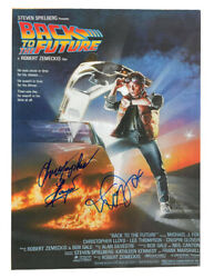 A3 Back To The Future Poster Signed By C Lloyd And M J Fox Blue Pen 100 + Coa