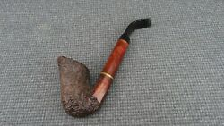 R - Briar Estate Pipe Marked Ascorti Business Extension - Hand Made Calabash