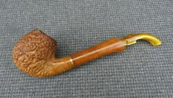 R - Briar Estate Pipe Marked Ascorti Business New Line - Bent Brandy Extension