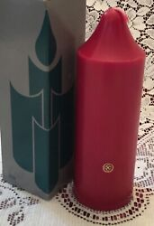 Partylite Cranberry 2 X 6 Bell Top Pillar Candle S2623 New Retired Htf Fruit Nos