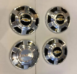 """Vintage 1973-87 Chevy Gmc 3/4 And 1 Ton Truck 12"""" Dog Dish Hubcaps Lot Of 4"""