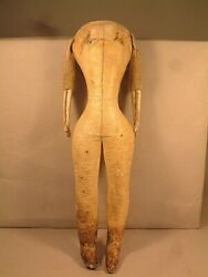12 Antique Kid Fashion Body For A French Or German Doll Good Condition Look