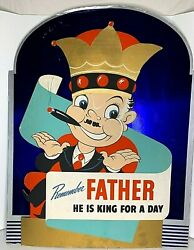 Fatherand039s Day 2 Pc Vintage Sign Remember Father He Is King For A Day 30x38