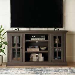 Canton Media Console Tv Stand For Tvs Up To 65 Entertainment Center Oak Finish