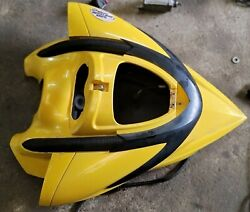 Sea Doo Rxp 155 Front Hood Upper Storage Compartment Cover Lid Hatch Yellow 07