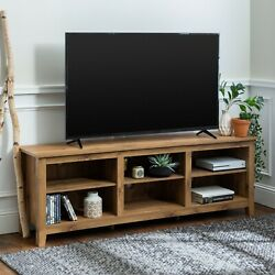 Universal Open Storage Tv Stand For Tvs Up To 80 Barnwood Entertainment Center