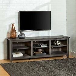 Universal Open Storage Tv Stand For Tvs Up To 80 Charcoal Entertainment Center