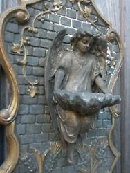 Antique French Angel Holy Water Font 19th Century