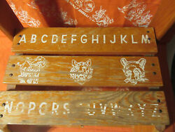 Vintage 1960's Children's Wooden Chair Step Stool Combo Sit And Stand 12 Wide