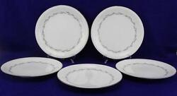 Noritake Graywood 5 Dinner Plates 6041 Vintage / Discontinued - Made In Japan